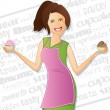 Royalty-Free Stock Vector Image: Bakery Girl