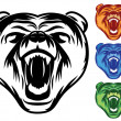 Stock Vector: Bear Mascot Icons