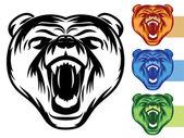 Björn maskot ikoner — Stockvektor