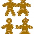 Gingerbread Couple — Stock Vector