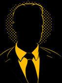 Business Man Vintage — Stock Vector