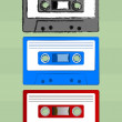 Stock Vector: Cassette Tapes