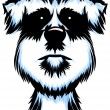 Terrier Dog Portrait - Stok Vektr