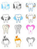 Dental Icons and Symbols — Stock Vector