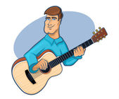Guitar Player — Stock Vector