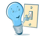 Lightbulb Blue Man — Stockvector