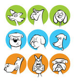 Dog Faces Collection — Stock Vector