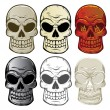 Skull Collection — Stock Vector
