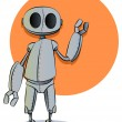 Rusty Robot Illustration - Stock Vector