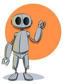 Rusty Robot Illustration — Stock Vector