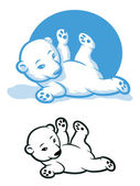 Polar Bear Cub — Stock Vector