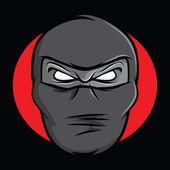 Ninja Face — Stock Vector