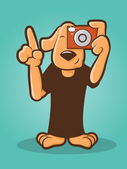 Dog Photographer — Vector de stock