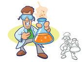 Chemist Character — Stock Vector