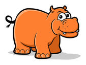 Hippo Cartoon — ストックベクタ