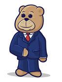 Business Bear — Stock Vector