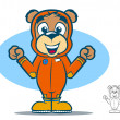 Flight Suit Bear — Stock Vector