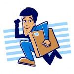 Speedy Delivery — Stock Vector #44366647