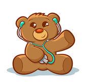 Doctor Teddy Bear — Stock Vector