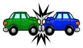 Car Accident Cartoon — Stock Vector