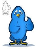 Blue Bird Mascot — Stock Vector