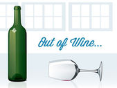 Out of Wine — Stock Vector
