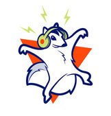Squirrel Music — Stock Vector