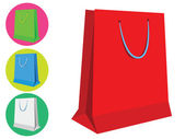 Shopping Bag Template — Stock Vector