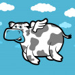 Flying Cow — Stock Vector #51191335