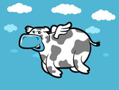 Flying Cow — Stock Vector