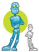 Robot Character — Stock Vector