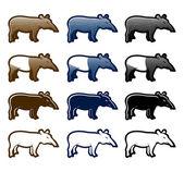 Tapir — Stock Vector