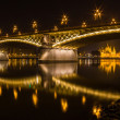 The Margaret bridge and the Parliament in Budapest, Hungary — Stock Photo