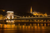 Chain bridge and the fisherman's bastion — Stock Photo