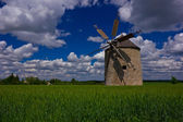 Five blade windmill — Stock Photo