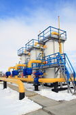 Gas transmission equipment. System of processing and supply of g — Stock Photo