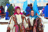 Girls of the people Nenets — Stock Photo