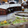 Foto Stock: Rail transport modelling