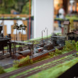 Rail transport modelling — Stock Photo