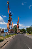 Two cranes — Stock Photo