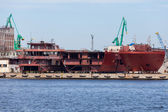 Shipbuilding. Gdynia - Poland. — Stock Photo