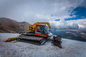 Snow groomer with standard equipment. — Stock Photo