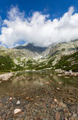 Beautiful Lake in High Tatras - Skalnate Pleso — Stock Photo