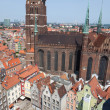 Cathedral in old town of Gdansk, Poland — Stock Photo