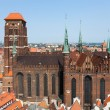Cathedral in old town of Gdansk, Poland — Stock Photo #27920521