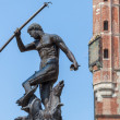 Famous Neptune fountain at Dlugi Targ square in Gdansk, Poland. — Foto Stock