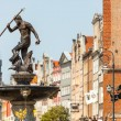 Famous Neptune fountain at Dlugi Targ square in Gdansk, Poland. — Stockfoto