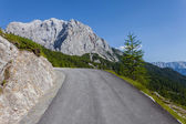 The road climbs in Slovenia - Triglav National Park — Stock Photo