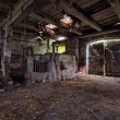 Interior of an old, decaying barn. — Stock Photo