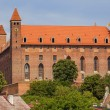 Teutonic castle of the thirteenth century — Stock Photo